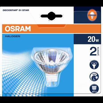 Osram Spots Halogène Osram, 20w, Gu5,3, 2 Unités