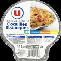 Plats aluminium coquilles St-Jacques U, x10
