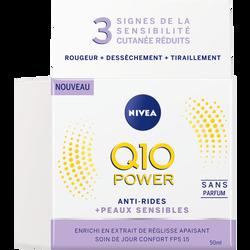 Soin de jour pour le visage Q10+ sensitive NIVEA, pot de 50ml