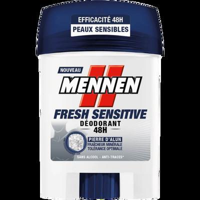 Déodorant fresh sensitive sans alcool, MENNEN, stick, 50ml