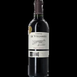"""Vin rouge Haut Médoc """"Château Villambis"""" 2012, médaille or Gilbert & Gaillard 2016, 75cl"""