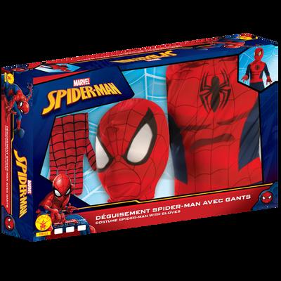 Panoplie Spiderman homecoming avec gants et cagoule taille M