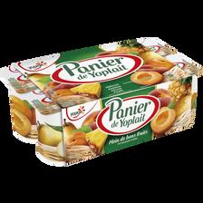 Yaourt sucré aux fruits jaunes PANIER DE YOPLAIT, 8x125g