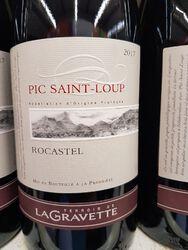 Languedoc Pic Saint Loup AOC rge La Gravette Rocastel11 75cl