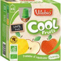 Compote Cool Fruits Pomme d'Aquitaine Bio Vitabio 4 gourdes 90g