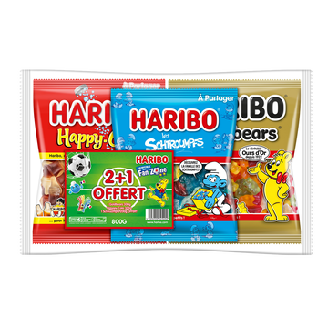Haribo Bonbons Schtroumpfs X1 Golbears X1 Happy Cola X1 Haribo