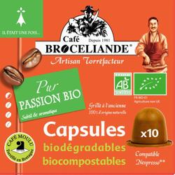 Café passion BIO BROCELIANDE, 10 capsules, 50g