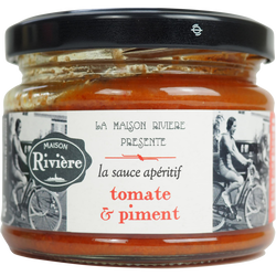 Sauce apéritif tomate piment MAISON RIVIERE 200g
