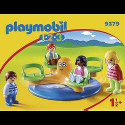 Playmobil 1.2.3 - Enfants Et Manège - 9379 - Dès 18 mois