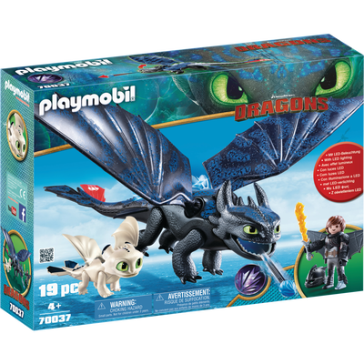 Krokmou et Harold avec bébé PLAYMOBIL Dragons