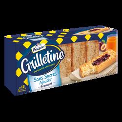 Grillettines froment sans sucres ajoutés BRIOCHE PASQUIER, 255g