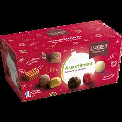 Assortiment de chocolats fins JACQUOT, x44, 500g