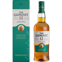 Scotch whisky single malt THE GLENLIVET, 12 ans d'âge, 40°, 70cl