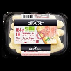 Barquette de quenelles au jambon bio GIRAUDET, 16x20g