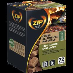 Allume-feu individuels naturels ZIP, 72 cubes
