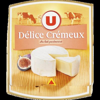 Fromage Délice Crémeux au lait pasteurisé U, 37% de MG, 200g