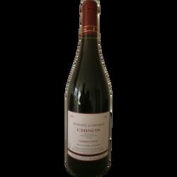 """Vin rouge AOC Chinon """"Domaine de Grézille vendanges manuelles"""", 75cl"""