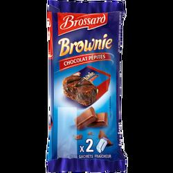 Mini brownie chocolat pépites BROSSARD, 2 sachets fraîcheur de 30g