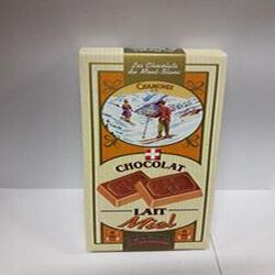 Tablette de chocolat au lait et Miel CHOCOLATERIE DU MONT-BLANC 100g