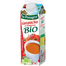 Gaspacho bio à l'andalouse LA POTAGERE, brique de 1 litre