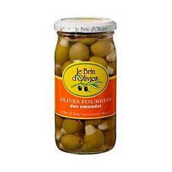 Olives vertes fourrées aux amandes LE BRIN D'OLIVIER, 200g