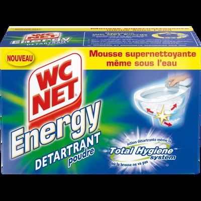 Auto nettoyant cuvette Poudre Active WC NET Energy, 6 sachets soit 378g