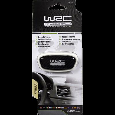 Désodorisant rally stick déco pour aérateur, senteur vanille, motifcarbone aux couleurs de WRC pour fans et suppoertesr de l'esprit rally