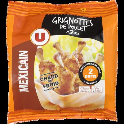 Grignotte de poulet rôtie goût mexicain, U, France, Sachet, 250g