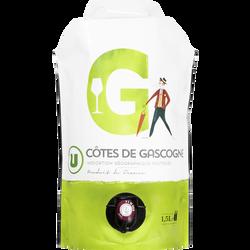 Vin blanc IGP Côtes de Gascogne U, bouteille de 1,5l