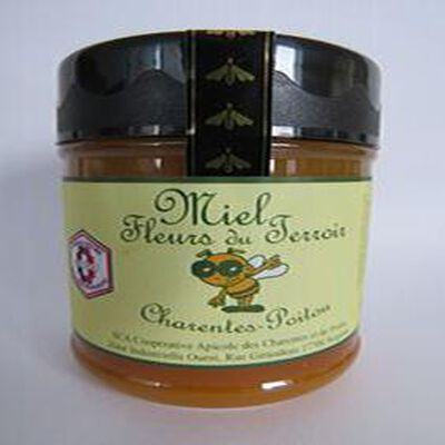 Miel fleurs du terroir, Charentes Poitou, 250gr, pot, Coopérative apicole des Charentes et du Poitou