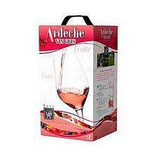 Vin gris rosé IGP Ardèche Vignerons ardéchois 5L