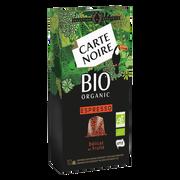Carte Noire Café Espresso Délicat Et Fruité Bio Carte Noire, X10 Soit 53g