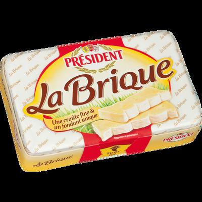 Fromage Brique au lait de vache pasteurisé PRESIDENT, 30% de MG, 200g