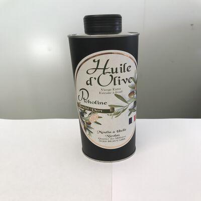 Huile d'olive vierge extra picholine fruité vert Moulin à huile Nicolas bidon 50cl