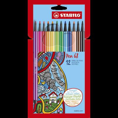 Feutre de dessin STABILO Pen 68, 12 unités