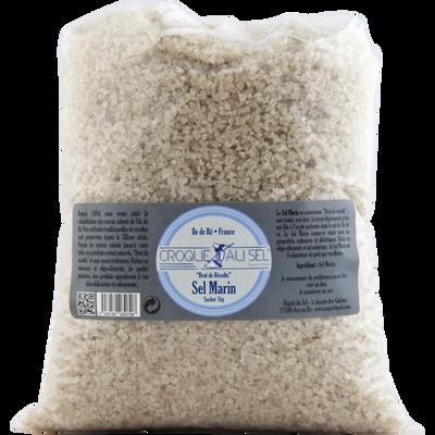 Sel marin gris croque au sel, sachet 1kg