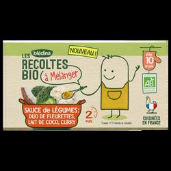 Sauce de légumes Duo de Fleurettes, Lait de coco, Curry Les RecoltesBio dès 10 mois, 2 x 150g, 300g
