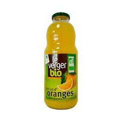 Pur jus d'oranges biologiques LE VERGER BIO, bocal de 1l
