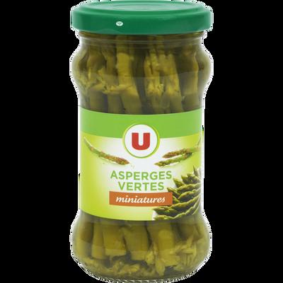 Asperges vertes miniatures U, bocal de 100g, 21cl
