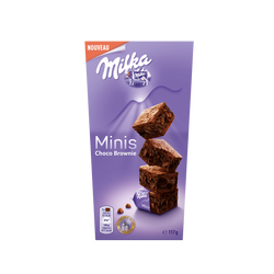 Gâteau moelleux mini choco brownie MILKA 117g
