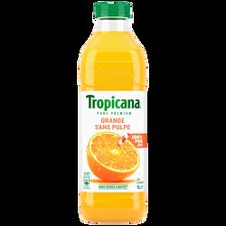 Jus d'orange pure premium sans pulpe TROPICANA, 1l