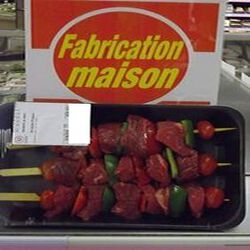 Brochette de Boeuf x 3 FABRICATION MAISON 0.650 kg env