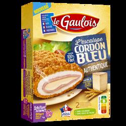 Escalope cordon bleu authentique, LE GAULOIS, transformé en France, 2pièces, 200g