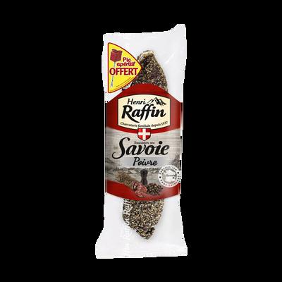 Saucisson sec au poivre, HENRI RAFFIN, 200g