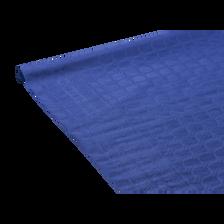 Nappe rouleau U MAISON, papier damassée, 7x1,18m, bleu vif