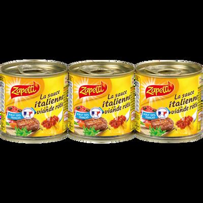 Sauce Italienne à la viande rôtie ZAPETTI, 3x95g