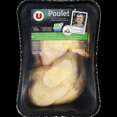 Cuisse de poulet jaune déjointée, U, France, 4 pièces