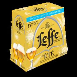 Bière blonde LEFFE été, 5,2°, 6x25cl