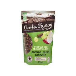 Céréales bio muesli pomme raisin Charles Vignon