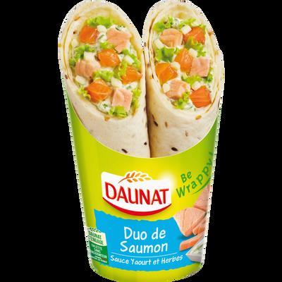 Sandwich wraps duo de saumon sauce yaourt et herbes DAUNAT, 190g